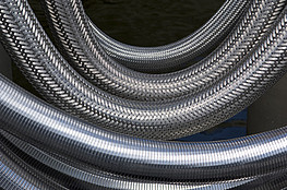 Steel braiding and steel spiral reinforcing 2